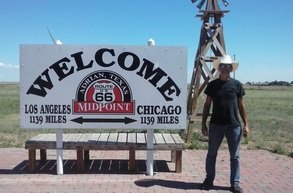 #IDroveTheMotherRoadRoute66 is halway to Santa Monica!!