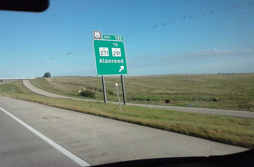Alanreed, Texas - I wonder whom it's named after?