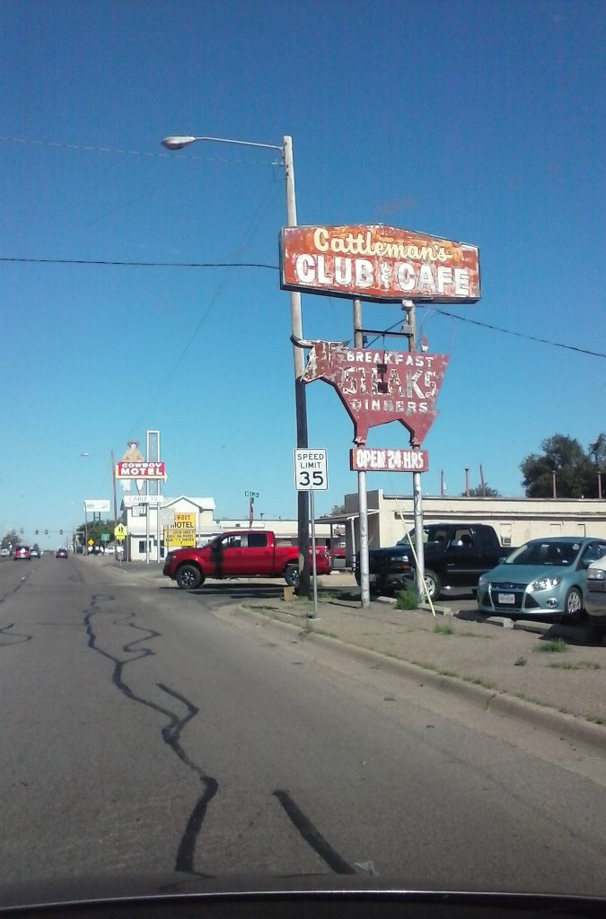 Cattlemen's Club in Amarallo on Route 66