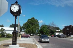 The Clock in Chelsea Oklahoma by Buzze A. Long