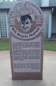 Will Rogers at the 66 Museum in Clinton, Oklahoma by Buzze A. Long