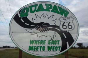 The first town in Oklahoma is Quapaw