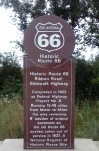 Route 66 Ribbon Road Marker