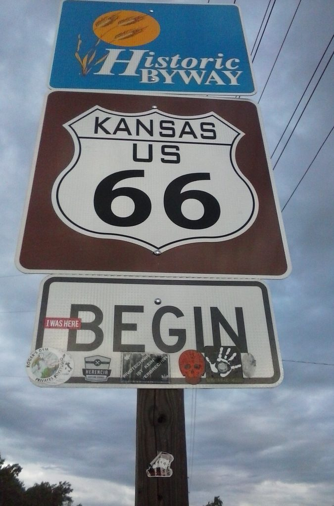 Entering Kansas From The East on Route 66