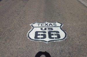 Texas Route 66 In Vega by Buzze A. Long