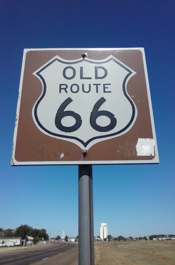 Old Route 66 in Vega, TX by Buzze A. Long