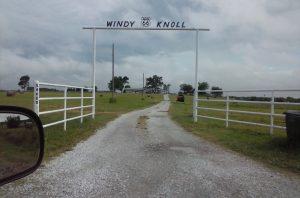 As you go by Windy Knoll, Oklahoma...