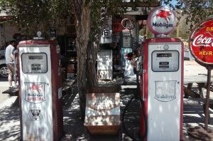 Gas pumps in Hackberry by #IDroveTheMotherRoadRoute66
