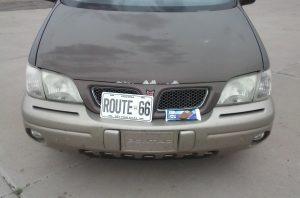 Route66 License Plate for a Jackrabbit