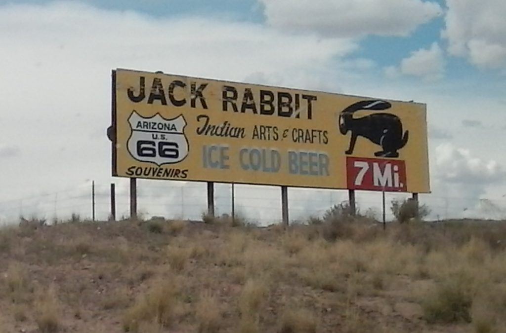 Jackrabbit In 7 Miles Sign Joseph City