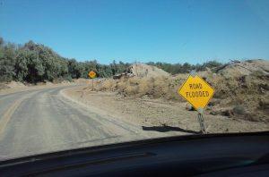 Flooded road Topock, AZ