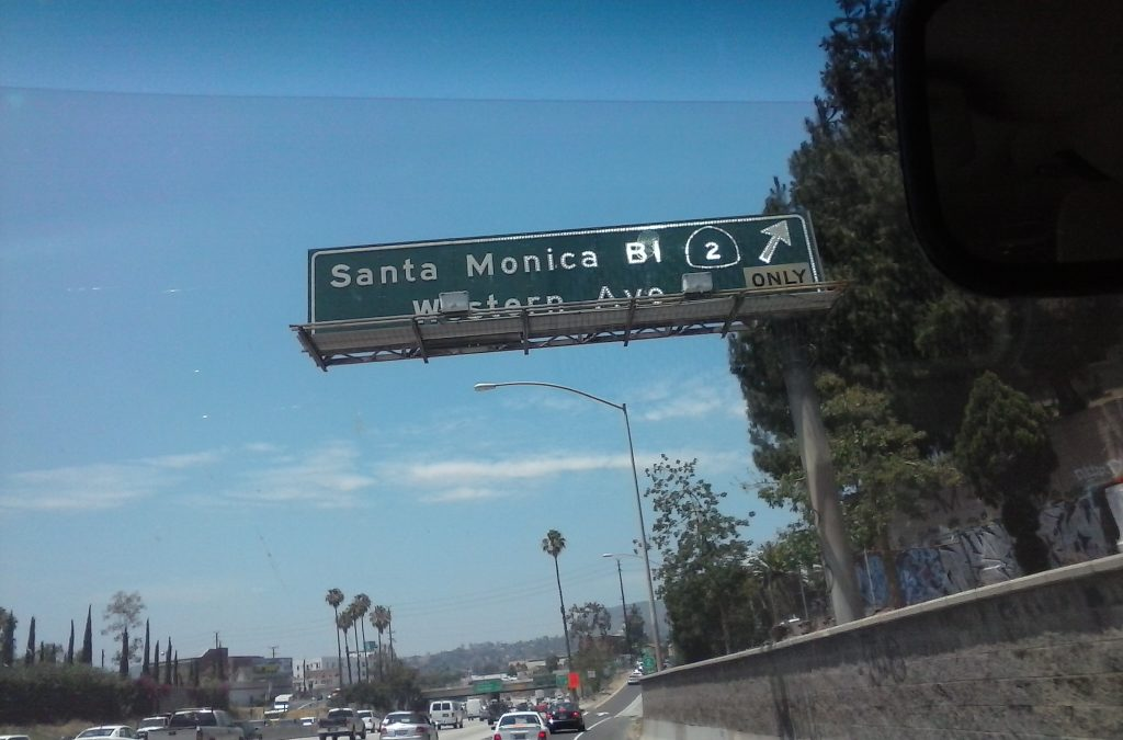 Exit at Santa Monica Blvd on the 101