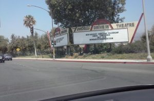 Foothill Drive-In Theater, Azusa, CA on The Mother Road