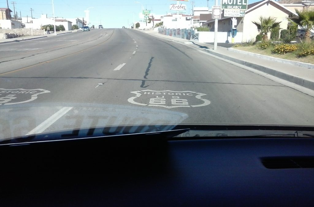 Route 66 Road Marking in Barstow, CA by Buzze A. Long
