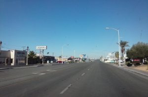 Route 66, The Mother Road, The Main Street Of America Travels West in Barstow, California