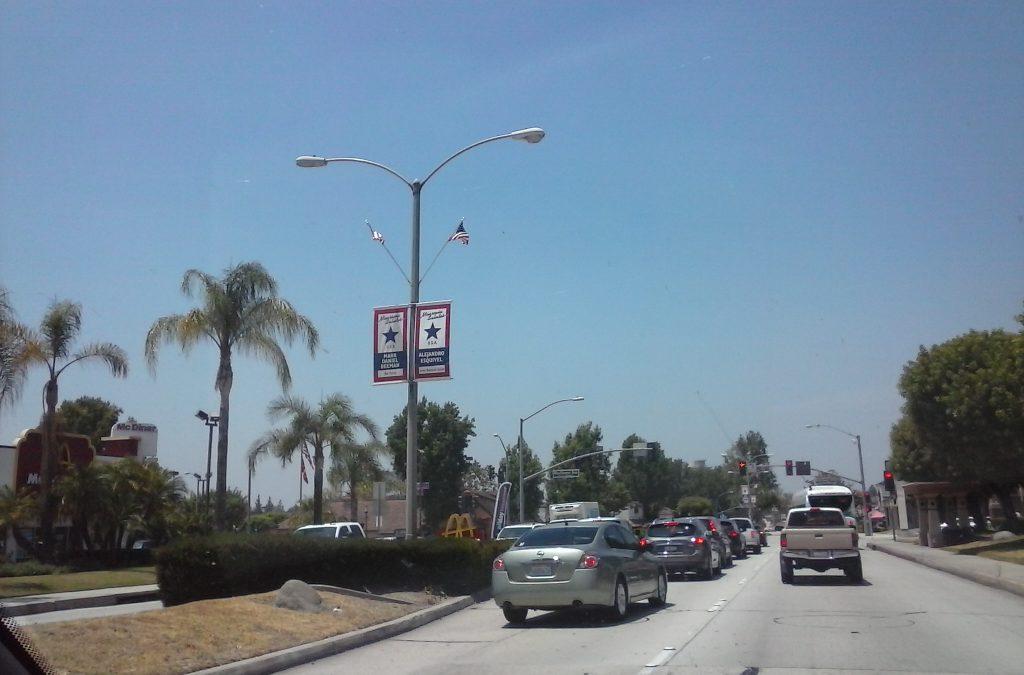 Center Island of Route 66 in Monrovia, California