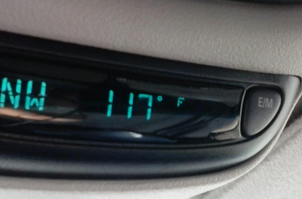 Temperature is 117 Degrees in Needles, CA