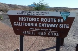 Route 66 Californai Gateway Site by Buzze A/ Long