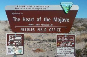 Mojave Desert Sign Needles, CA
