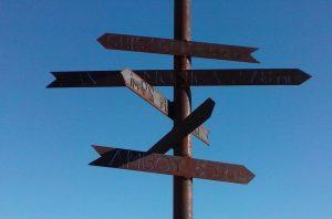 Signpost near Needles