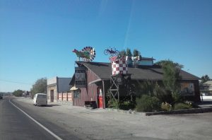 Route 66 Business Sign Cow in Oro, Grande, CA By Buzze A. Long