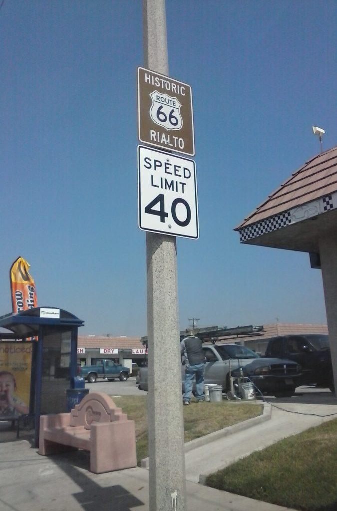 Route 66, America's Main Street in Rialto, California