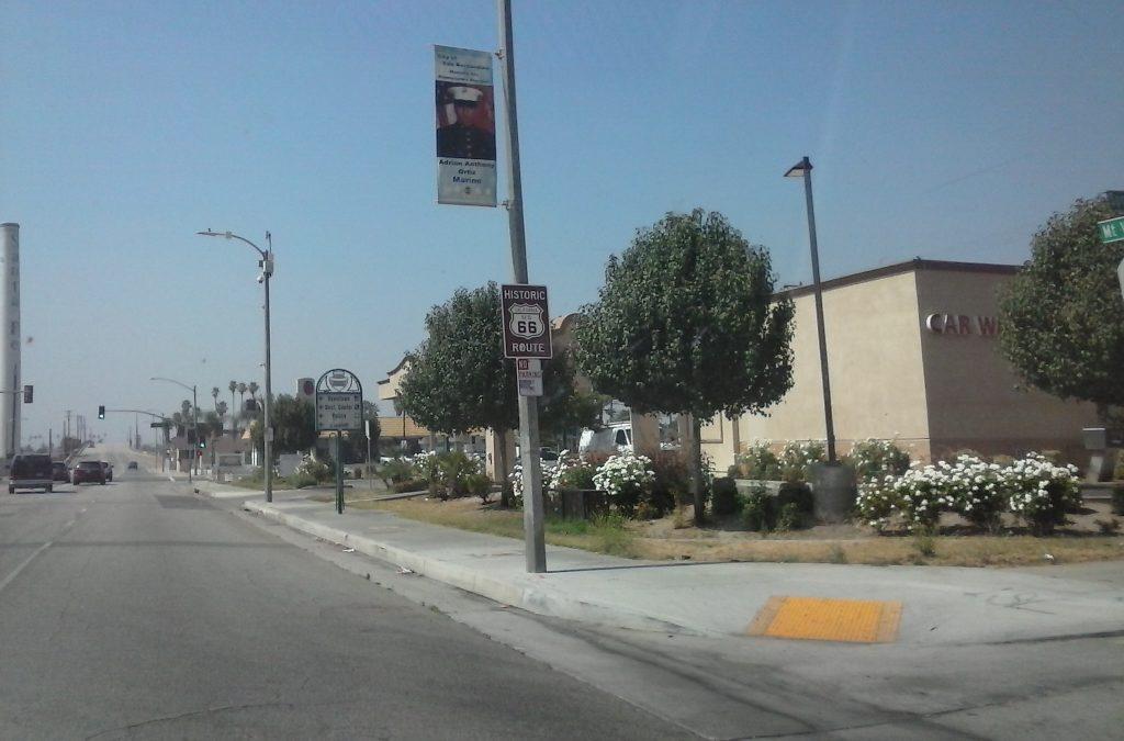 Route 66 Brown Shield Sign, San Bernadino