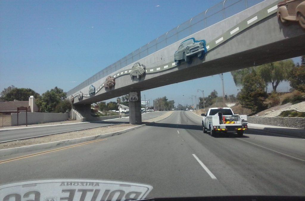 Commemorative Route 66 Bridge Near Upland, CA