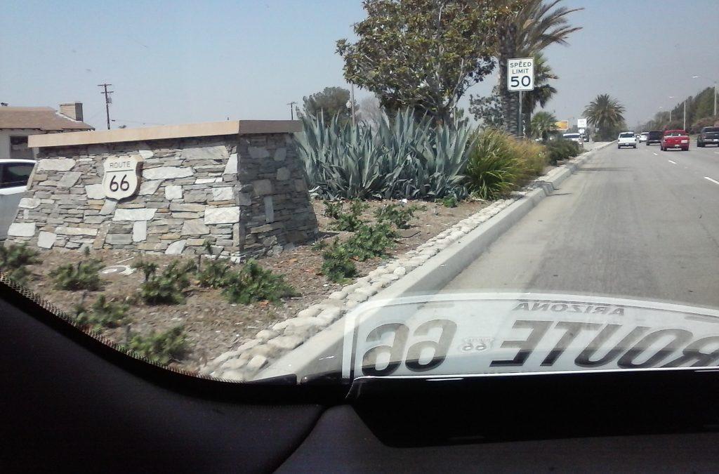 Route 66, America's Main Street, in Fontana, California