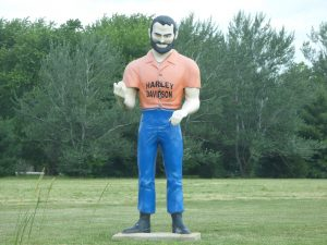 Harley Muffler Man on Route 66 by #IDroveTheMotherRoadRoute66