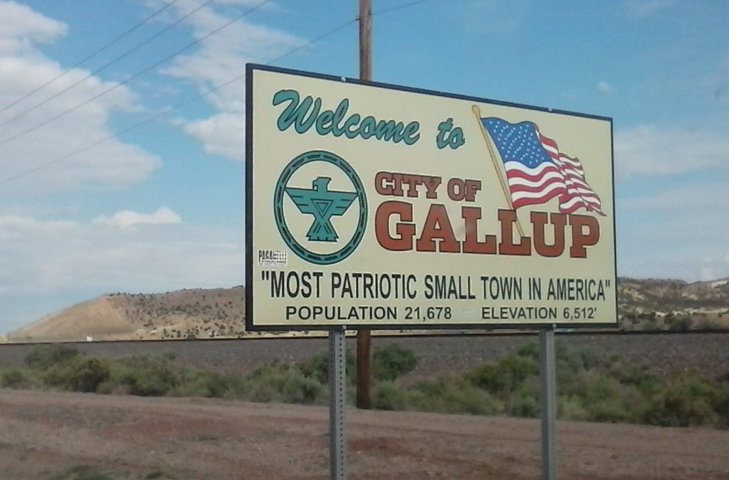 Gallup's Welcome Sign by Buzze A. Long
