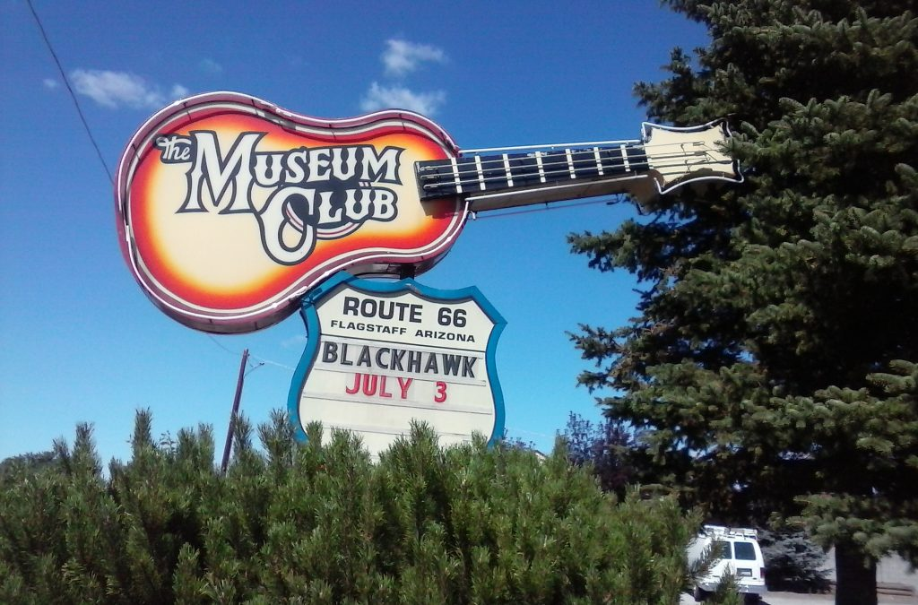 The Museum Club is a well-known watering hole on The Mother Road