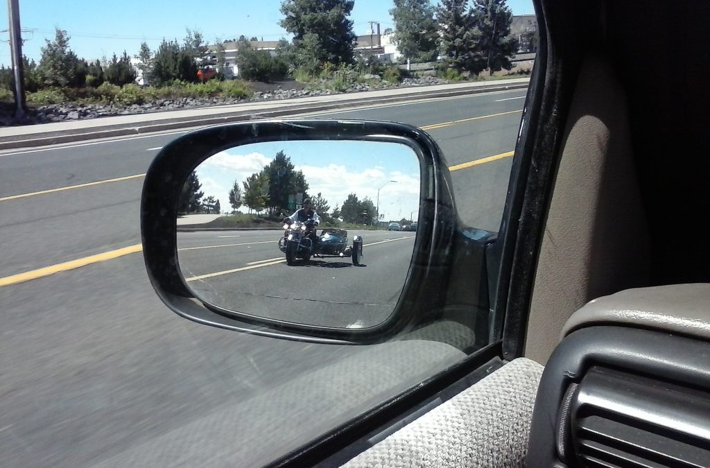 MotorTrike in the Rear View Mirror on #Route66