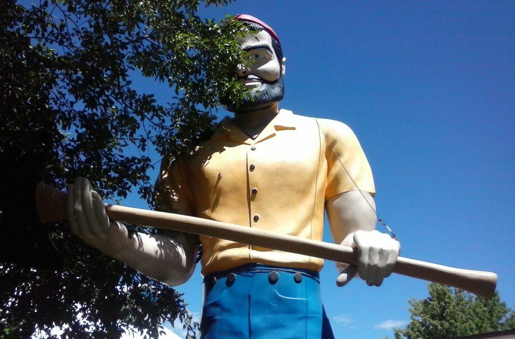 Paul Bunyon Muffler Man Stands Tall Along U.S. Route 66
