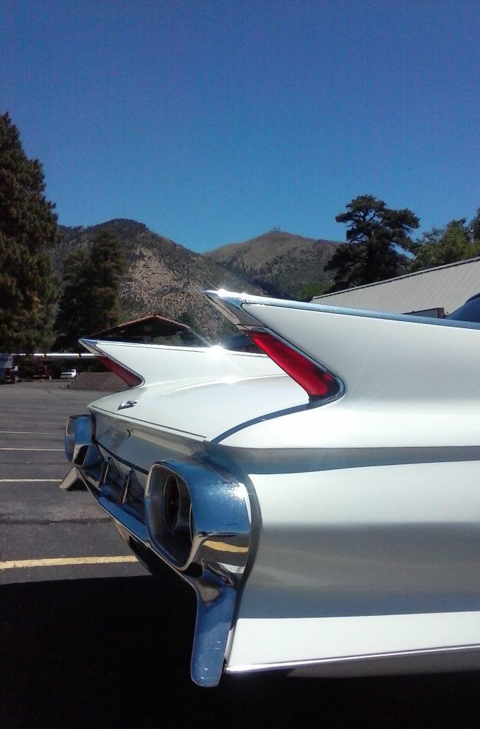 Cadillac Fins Against Mt Elden, Flagstaff, AZ