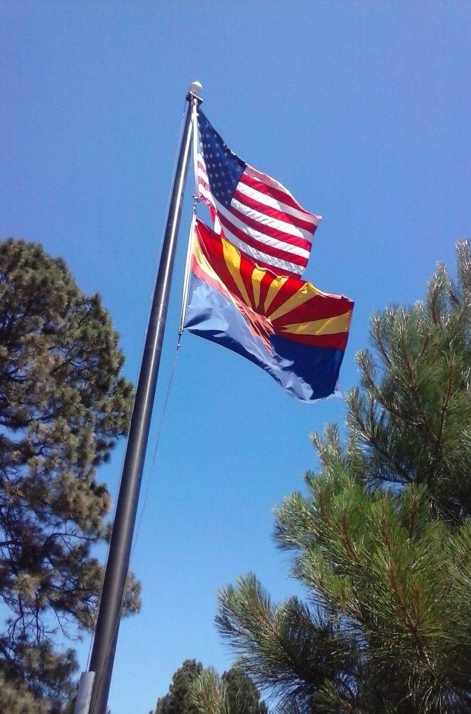 U.S. Route 66 Flag Display in Arizona